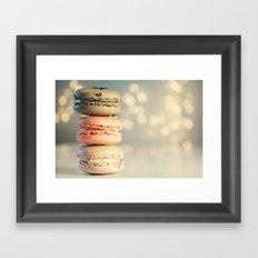 neapolitan macarons Framed Art Print