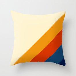 Retro Lines Diagonal Throw Pillow