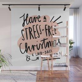 Stress-Free Christmas Wall Mural