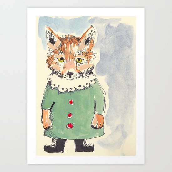 Bear Fox Art Print