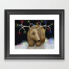 Glow me the Way : Christmas Lights Framed Art Print