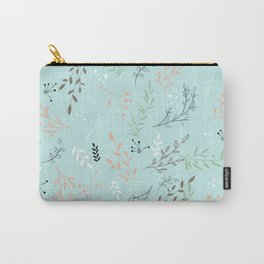 Light And Lovely Spring Floral Garden Pattern Carry-All Pouch