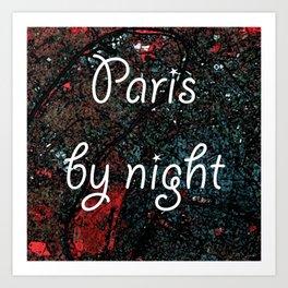 Paris by night colors couette urban fashion culture Jacob's 1968 Paris Agency Art Print