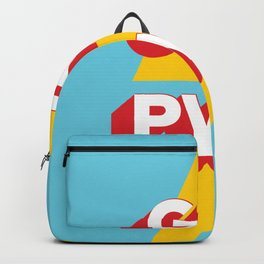 GRL PWR // in Red Blue Backpack
