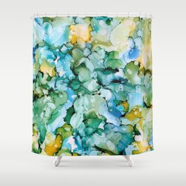 Stained Glass Pond Shower Curtain