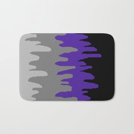Splash of colour (purple & gray) Bath Mat