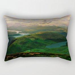 Mountain Bike View Rectangular Pillow