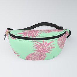 Pineapple Pattern - Mint & Crimson Fanny Pack