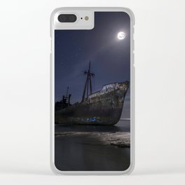Under the moonlight Clear iPhone Case