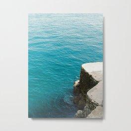 Blue Blue Sea | Amalfi coast Italy | Travel photography in summer Metal Print