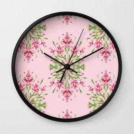 Wild plant pattern 3a Wall Clock