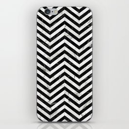 Marble Chevron Pattern - Black and White iPhone Skin