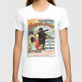 1896 Normandy Brittany Jersey travel ad T-shirt