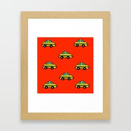 NYC Taxi Cabs Framed Art Print