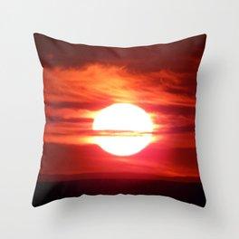 Fireball Above the Saint-Lawrence Throw Pillow