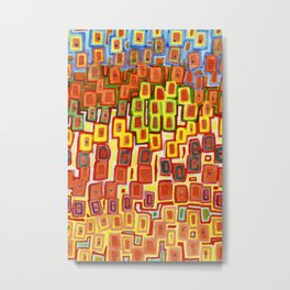 Squeezed together Squares Pattern Metal Print