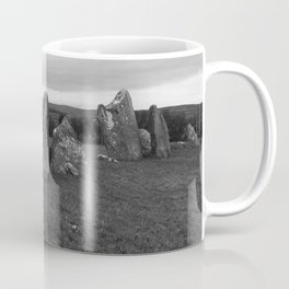 Beltany Stone Circle Donegal bw Coffee Mug