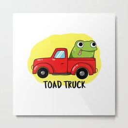 Toad Truck Cute Animal Pun Metal Print