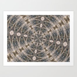 Flowing Waters Kaleidoscope Art Print
