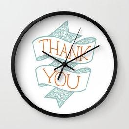 Thank You (colour version) Wall Clock