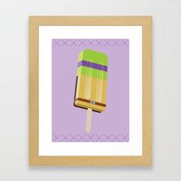 Ninja Turtles Ice Pops: Don Framed Art Print