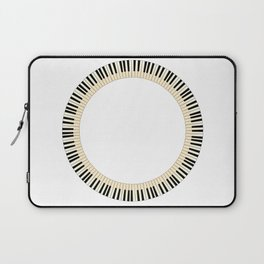 Pianom Keys Circle Laptop Sleeve