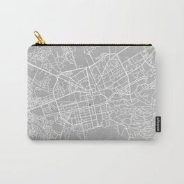 Tirana city map grey colour Carry-All Pouch