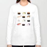 sushi Long Sleeve T-shirts featuring Sushi! by Sara Showalter