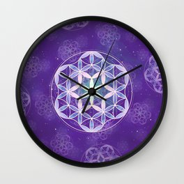 Flower Of Life 003 Wall Clock