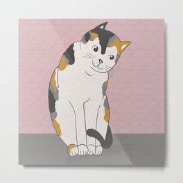 Calico Cat Metal Print