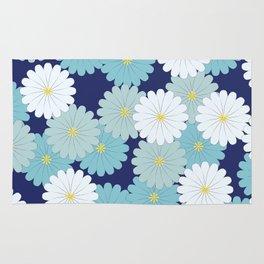 Blue oriental flowers Rug