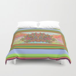 AlChemical - with landscaped background inc birds Duvet Cover