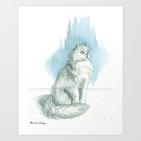persian Art Prints featuring Persian by Priscilla George