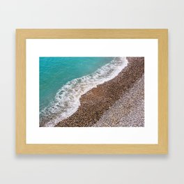 Cote d'Azur Shoreline Framed Art Print
