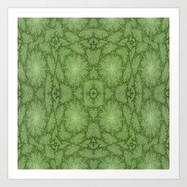 Green Hearts Art Print