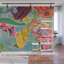 COLOURFUL TULIPS MEDITATION Wall Mural