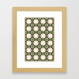DG GEOMETRIC – KHAKI Framed Art Print