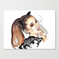 ariana grande Canvas Prints featuring ARIANA G. by CARLOS CASANOVA