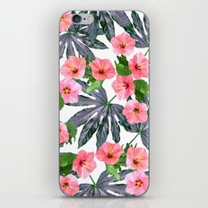 Tropical Blossom in Pink iPhone Skin