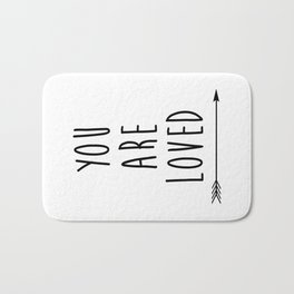 You Are Loved Printable Art, Nursery Art, Black and White Art, Arrow Art, You are So Loved Word Art, Bath Mat