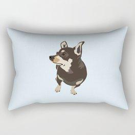 Hopeful Dog Rectangular Pillow