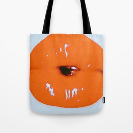 Brilliantly Coral Lips Tote Bag