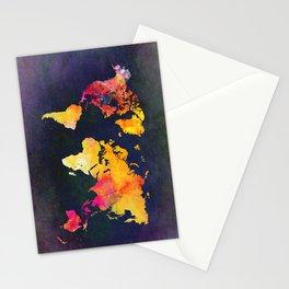 World map 8 Stationery Cards