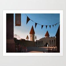 Castle Courtyard Art Print