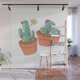 Cactus High Five! Wall Mural