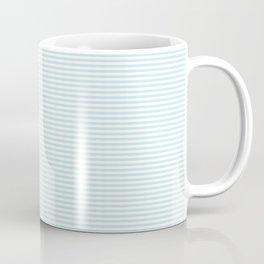 Duck Egg Pale Aqua Blue and White Horizontal Nautical Sailor Stripe Coffee Mug