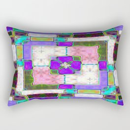 Glass Block Abstract Rectangular Pillow