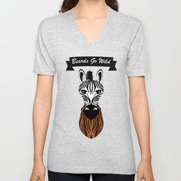 Zebra Beard Unisex V-Neck