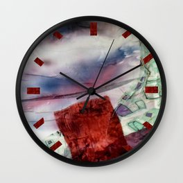 Carré rouge Wall Clock