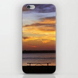 Sitting on the Bench by the Lake iPhone Skin